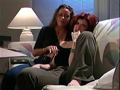 Randy pussy licking lesbian slut enjoy fingering in groupsex