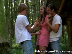 AmateurSexTeens Movie Scene: Jana and 2 boys