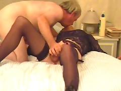 Mature Tranny gets a Fuck and a Facial