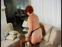 GERMAN MATURE BBW KIRA RED FUCKED BY HUGE BLACK COCK