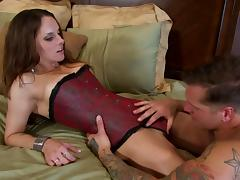 Krystal Main sucks dick and gets fucked before pegging stud