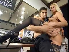 Boots, Blonde, Boots, Couple, Cum, Heels