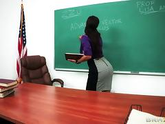Big Booty Teacher Gets Drilled Anal Doggystyle After Class