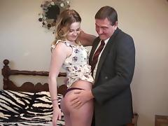 Old and Young, Blonde, Blowjob, Cute, Masturbation, Old Man