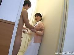 the japanese nurse will take care of his every need