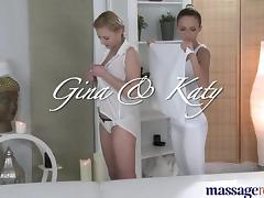 Massage Rooms Teen lesbians finger fuck