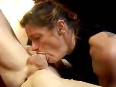 Wild brunette milf gets her sweet cunt blasted