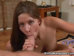 All, Big Tits, Blowjob, Boobs, Brunette, Handjob