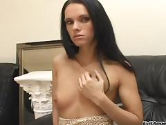 Bitches With Small Tits Gives Blow job In POV Then Take Cum In Mouth