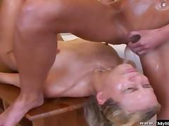 A horny blonde and her friend get together
