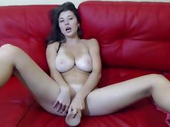 busty babe solo masturbation