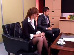 Hardcore sex scene with hot Japanese office girl Jessica Kizaki