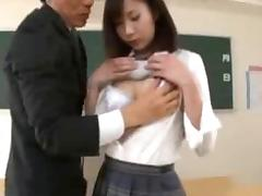Active Female Student Lactating Breasts Clip1 TOM