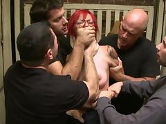 Rough gang bang along slutty Phoenix Askani