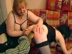Fat French mature broad Annie in interracial group sex