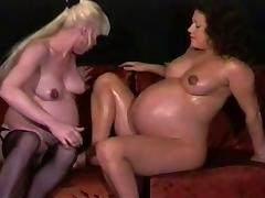 pregnant lesbians milking and playing