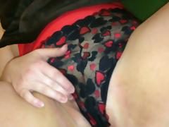 Wife fingers pussy