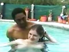 Pool, Amateur, Bitch, Creampie, Interracial, Pool