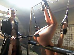 Spanking models enjoy anal toying before blowing cocks in a BDSM scene