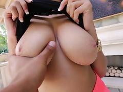 Cum on tits for blue eyed bimbo