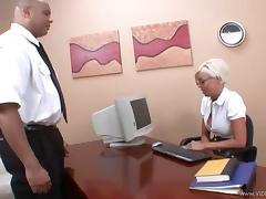 Pornstar Jordan Blue enjoys getting fucked on her desk at work