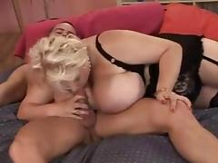 Older Blond BBW & a guy