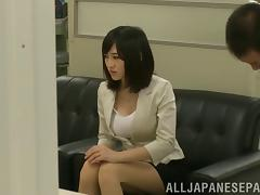 Stunning big tits on this Japanese girl he fucks in public