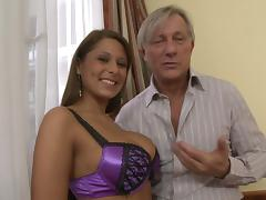 Stunning MILF with big tits is seduced and gets her anal pounded hardcore