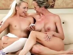 HD Busty stepmom licking young blonde tiny