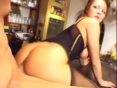 Babe rides anally