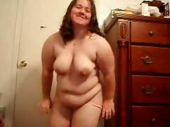 Horny Fat BBW friend loves to dance and play with Pussy