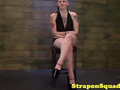 Tattooed bdsm goth tiedup and interviewed