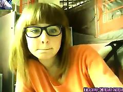 Gorgeous Teen gf With Purple Vibe on Web Cam