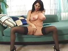Big titted Milf gets her hairy cunt fucked roughly