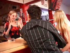 British Barmaid Gets Well Served