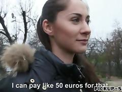 Hot Eurobabe Aruna Aghora pussy screwed in exchange for cash