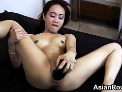 Dirty Asian Girl Loves Her Black Toy