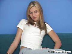 Casting, Amateur, Audition, Blonde, Casting, Jeans