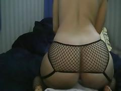 Big ass girl sucks and fucks big dildo on webcam