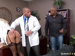 The doctor has to punish his nurse for a mistake she made