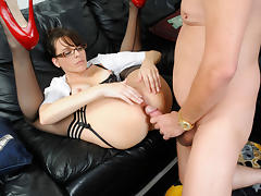 Dana Dearmond in Geeky Secretary With Awesome Sex Talents Too