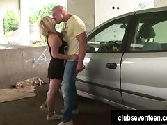 Teen Cindy gets fucked and facialized outdoors