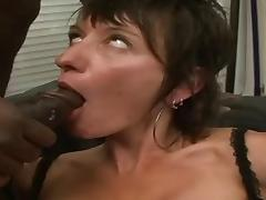 Short-Haired MILF Zaza LaCoquine Anal Interracial