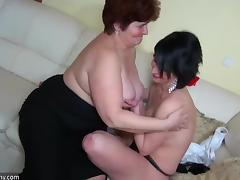 Mom and Boy, Granny, Lesbian, Mature, Old, Sex