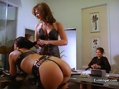 Naughty porn hot chicks gets fucked hard doggystyle in fetish action