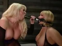 Lesbian Milfs face mask strapon anal