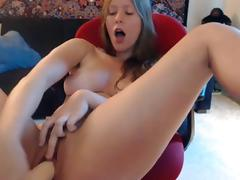 Masturbating on the chair