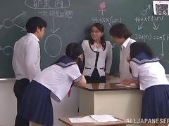 Sex education teacher gives a firsthand lesson to her students