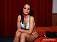 Cute brunette passes a casting interview and fucked hardcore