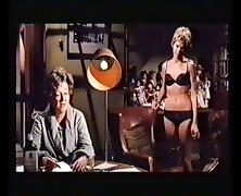 Susannah York Black Bra & Panties. Vintage Lesbian.